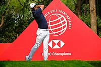 Brooks Koepka (USA) on the 9th tee during the 2nd round at the WGC HSBC Champions 2018, Sheshan Golf CLub, Shanghai, China. 26/10/2018.<br /> Picture Fran Caffrey / Golffile.ie<br /> <br /> All photo usage must carry mandatory copyright credit (&copy; Golffile | Fran Caffrey)