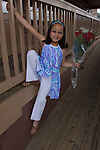 Chinese-American girl in go-go outfit strutting her stuff, model released (MR#96)
