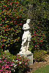Statue in gardens at Huntington Gardens in Pasadena