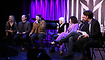 Kerry Butler, Rob McClure, Alex Brightman, Sophia Anne Caruso, Leslie Kritzer, Adam Dannheisser and Alex Timbers attends Broadway's 'Beetlejuice' - First Look Presentation at Subculture  on February 28, 2019 in New York City.