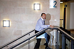 Israel's controversial new foreign minister, Avigdor Lieberman, at Israel's Knesset or parliament, Jerusalem, March 31, 2009. The country's new government will be led by Binyamin Netanyahu. Photo by: Emil Salman..