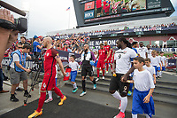 Commerce City, CO - Thursday June 08, 2017: Michael Bradley, Tim Howard during a 2018 FIFA World Cup Qualifying Final Round match between the men's national teams of the United States (USA) and Trinidad and Tobago (TRI) at Dick's Sporting Goods Park.