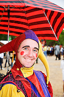 The Renaissance Fair is held each September at the historic museum of El Rancho de Las Golondrinas near Santa Fe and features dancers, kinghts, acrobats and many other performers all celebrating the culture and life style of the Medieval Middle Ages.  Elijah Whippo is a juggler, magican, acrobat and all around leader of Clan Tynker which is a famiily troup of performers. Elijah Whippo is Clan Tynker's leader and master magician..