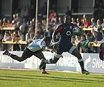 Miles Odejobi breaks. England V Fiji Junior Rugby World Cup 2008 © Ian Cook IJC Photography iancook@ijcphotography.co.uk www.ijcphotography.co.uk..