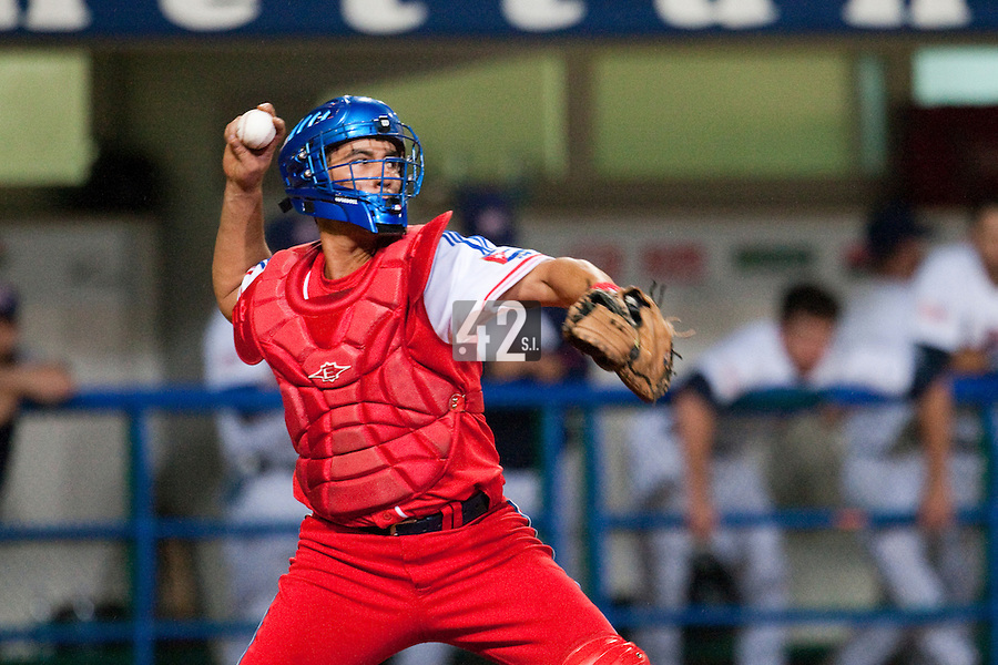 24 September 2009: Catcher Ariel Pestano of Cuba is seen during the 2009 Baseball World Cup final round match won 5-3 by Team USA over Cuba, in Nettuno, Italy.