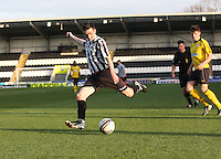 Sean Kelly in the St Mirren v Falkirk Clydesdale Bank Scottish Premier League Under 20 match played at St Mirren Park, Paisley on 30.4.13.