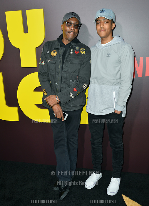 Arsenio Hall &amp; Arsenio Hall Jr. at the premiere for &quot;Sandy Wexler&quot; at The Cinerama Dome. Los Angeles, USA 06 April  2017<br /> Picture: Paul Smith/Featureflash/SilverHub 0208 004 5359 sales@silverhubmedia.com