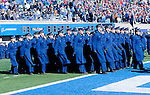 November 7, 2015 - Colorado Springs, Colorado, U.S. - The Air Force Corps of Cadets parade into the stadium prior to the NCAA Football game between the Army Black Knights and the Air Force Academy Falcons at Falcon Stadium, U.S. Air Force Academy, Colorado Springs, Colorado.  Air Force defeats Army 20-3.