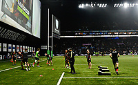 17th November 2019,  Paris La Défense Arena, Hauts-de-Seine, France; Champions Cup Rugby Union, Racing 92 versus Saracens; The players during warm up