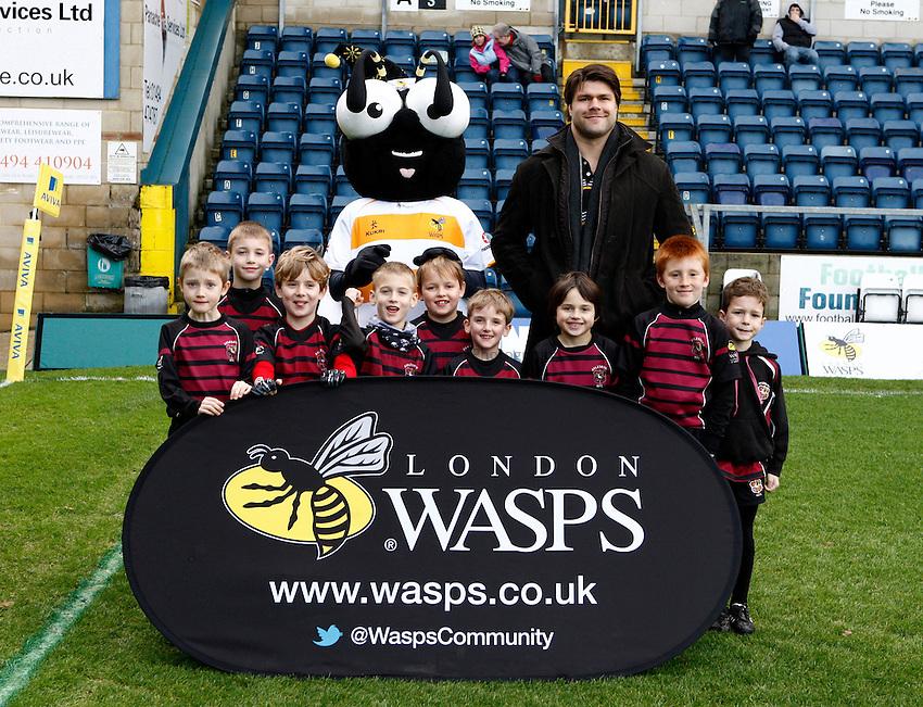 Photo: Richard Lane/Richard Lane Photography. London Wasps v Sale Sharks. 23/12/2012. Community Group.