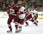 David Cotton (BC - 17), Jake Horton (Harvard - 19) - The Harvard University Crimson defeated the visiting Boston College Eagles 5-2 on Friday, November 18, 2016, at Bright-Landry Hockey Center in Boston, Massachusetts.{headline] - The Harvard University Crimson defeated the visiting Boston College Eagles 5-2 on Friday, November 18, 2016, at Bright-Landry Hockey Center in Boston, Massachusetts.