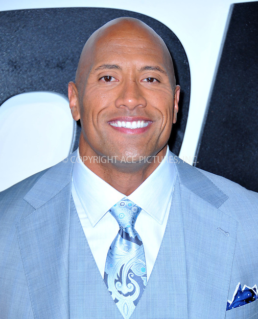 WWW.ACEPIXS.COM<br /> <br /> April 1 2015, LA<br /> <br /> Dwayne Johnson arriving at Universal Pictures Premiere of 'Furious 7'' at the TLC Chinese Theatre, Hollywood, on April 1, 2015 in Los Angeles.CA <br /> <br /> By Line: Peter West/ACE Pictures<br /> <br /> <br /> ACE Pictures, Inc.<br /> tel: 646 769 0430<br /> Email: info@acepixs.com<br /> www.acepixs.com