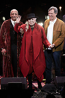 Los Angeles, CA - NOV 07:  Charles Valentino, Joni Mitchell, and Sauchuen perform at 'Joni 75: A Birthday Celebration Live At The Dorothy Chandler Pavilion' on November 07 2018 in Los Angeles CA. Credit: CraSH/imageSPACE/MediaPunch