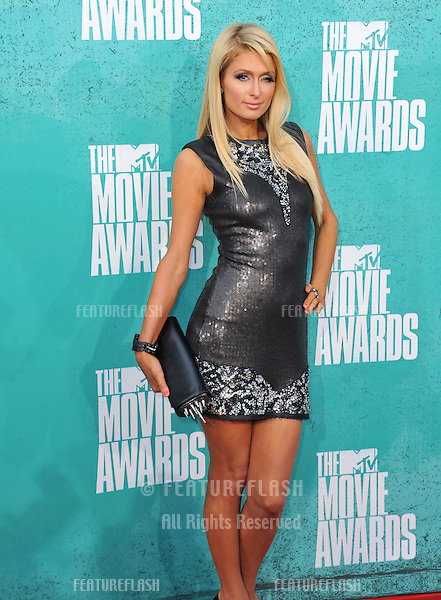 Paris Hilton at the 2012 MTV Movie Awards at Universal Studios, Hollywood..June 4, 2012  Los Angeles, CA.Picture: Paul Smith / Featureflash