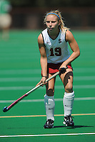 Stanford, CA - SEPTEMBER 13:  Forward Marlana Shile #19 of the Stanford Cardinal during Stanford's 3-2 loss against the Iowa Hawkeyes on September 13, 2008 at the Varsity Field Hockey Turf in Stanford, California.