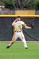 West Virginia Mountaineers outfielder Matt Frazer #47 during a game against the Michigan Wolverines at the Big Ten/Big East Challenge at the Walter Fuller Complex on February 19, 2012 in St. Petersburg, Florida.  (Mike Janes/Four Seam Images)