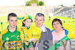 Darren, Gavin, Timmy and Patsy O'Sullivan Firies watching their heroes at the Kerry team training in Fitzgerald Stadium, Killarney on Saturday. .