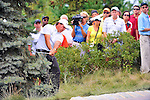 27 August 2009: Phil Mickelson hits out of the rough during the first round of The Barclays PGA Playoffs at Liberty National Golf Course in Jersey City, New Jersey.