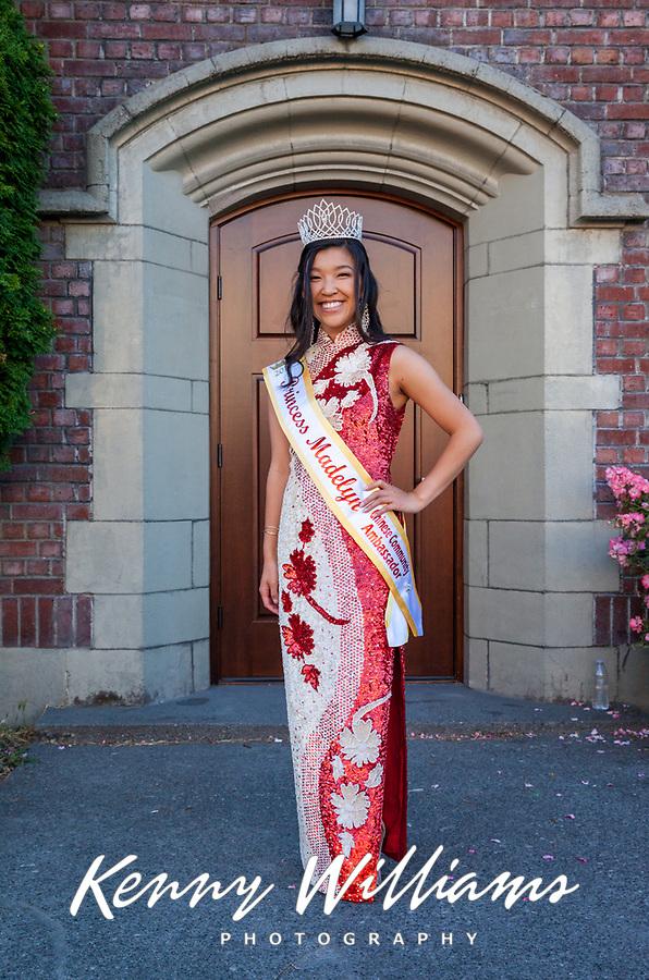 Princess Madelyn 2018, Chinese American Ambassador, Chinatown Seafair Parade, Seattle, WA, USA.