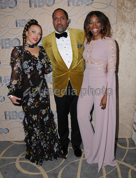 08 January 2017 - Beverly Hills, California - Kenya Barris, Yvonne Orji. HBO's Official 2017 Golden Globe Awards After Party held at the Beverly Hilton Hotel Photo Credit: Birdie Thompson/AdMedia