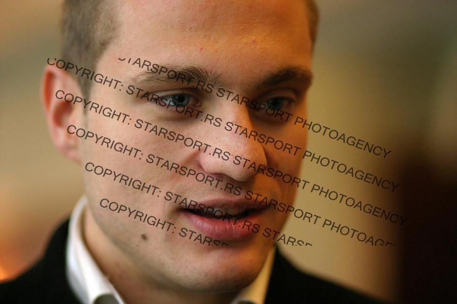 SPORT FUDBAL FUDBALSKI SAVEZ SRBIJE SKUPSTINA  Nemanja Vidic 27.12.2005. foto: Pedja Milosavljevic<br />