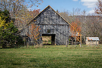 An old barn in the Erbie area on the Buffalo National River in Arkansas.