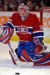 3 February 2007: Montreal Canadiens goaltender Cristobal Huet of France warms up prior to facing the New York Islanders at the Bell Centre in Montreal, Canada. The Islanders defeated the Canadiens 4-2.