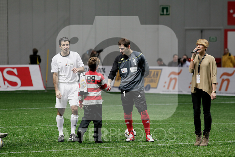 BENEFICIARY MATCH; 'Match for Ilusion' organized by  Iker Casillas & Figo. Iker Casillas and Louis Figo.....Photo: MAC / ALFAQUI