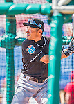 7 March 2016: Miami Marlins outfielder Ichiro Suzuki takes batting practice prior to a Spring Training pre-season game against the Washington Nationals at Space Coast Stadium in Viera, Florida. The Nationals defeated the Marlins 7-4 in Grapefruit League play. Mandatory Credit: Ed Wolfstein Photo *** RAW (NEF) Image File Available ***