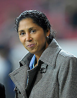 Steffi Jones. US Women's National Team defeated Germany 1-0 at Impuls Arena in Augsburg, Germany on October 29, 2009.
