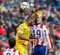 Atletico Madrid´s Spanish forward Fernando Torres and Getafe´s  defense Naldo