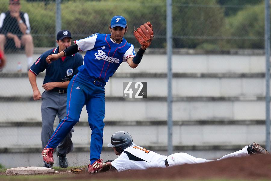Baseball - 2009 European Championship Juniors (under 18 years old) - Bonn (Germany) - 08/08/2009 - Day 6 - Thomas Medina (France)