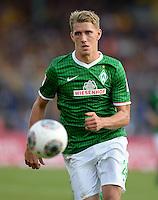 FUSSBALL   1. BUNDESLIGA   SAISON 2013/2014   1. SPIELTAG Eintracht Braunschweig - Werder Bremen             10.08.2013 Nils Petersen (SV Werder Bremen) am Ball