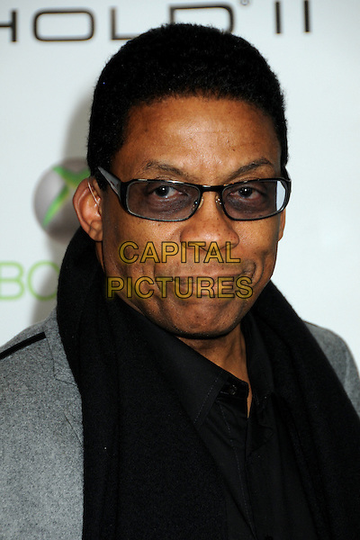 HERBIE HANCOCK .EMI Post Grammy Party 2010 held at the W Hollywood Hotel, Hollywood, California, USA, 31st January 2010..portrait headshot black scarf glasses grammys .CAP/ADM/BP.©Byron Purvis/Admedia/Capital Pictures