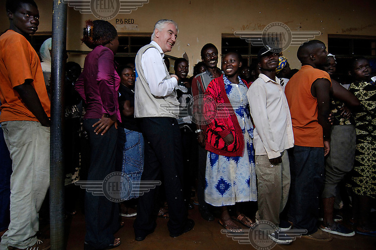 Max van den Berg, Chief Observer of the European Union (EU) Election Observation Mission (EOM), monitoring voting in Uganda's first multi-party presidential and parliamentary elections for 26 years.