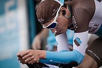 Oliver Naesen (BEL/AG2R La Mondiale) warming up for Stage 5 (ITT): Barbentane to Barbentane (25km)<br /> 77th Paris - Nice 2019 (2.UWT)<br /> <br /> ©kramon