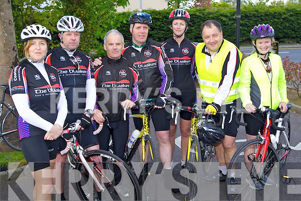 Pictured at the RNLI Charity Fun Cycle on Saturday at Mounthawk, Tralee, from left: Marie Lenihan, Mark Prendiville, Gerry Lee, Pierce Heaslip, Aine Prendiville, Liam Lynch and Rose-Marie Daly..