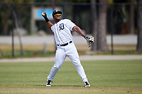 Detroit Tigers Christin Stewart (25) during a Minor League Spring Training game against the Atlanta Braves on March 19, 2018 at the TigerTown Complex in Lakeland, Florida.  (Mike Janes/Four Seam Images)