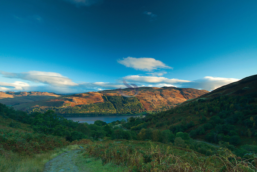Loch Earn from the slopes of Ben Vorlich, Perthshire