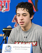 Johnny Gaudreau (BC - 13) - The Boston College Eagles defeated the Northeastern University Huskies 7-1 in the opening round of the 2012 Beanpot on Monday, February 6, 2012, at TD Garden in Boston, Massachusetts.
