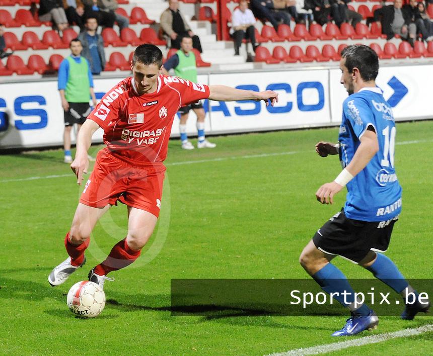 KV Kortrijk - FC Dender..Cédric Betremieux met Sulejman Smajic (rechts) voor zich...foto David Catry / VDB