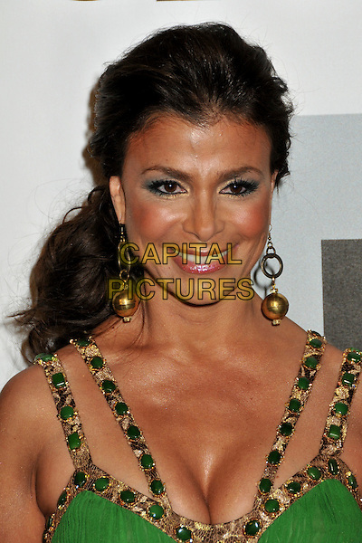 PAULA ABDUL.FOX All-Star Winter 2009 TCA Party at My House Night Club, Hollywood, California, USA..January 13th, 2009.headshot portrait  green gold beads cleavage beaded dangling earrings eyeshadow .CAP/ADM/BP.©Byron Purvis/AdMedia/Capital Pictures.