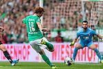 01.09.2019, wohninvest WESERSTADION, Bremen, GER, 1.FBL, Werder Bremen vs FC Augsburg<br /> <br /> DFL REGULATIONS PROHIBIT ANY USE OF PHOTOGRAPHS AS IMAGE SEQUENCES AND/OR QUASI-VIDEO.<br /> <br /> im Bild / picture shows<br /> Joshua Sargent (Werder Bremen #19) mit Torschuss und Torchance, <br /> <br /> Foto © nordphoto / Ewert
