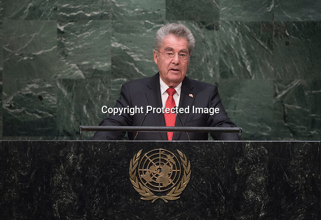 His Excellency Heinz Fischer, Federal President of the Republic of Austria <br /> General Assembly Seventieth session 9th plenary meeting: High-level plenary meeting of the (6th meeting)