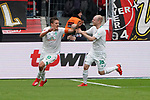 17.03.2019, BayArena, Leverkusen, GER, 1. FBL, Bayer 04 Leverkusen vs. SV Werder Bremen,<br />  <br /> DFL regulations prohibit any use of photographs as image sequences and/or quasi-video<br /> <br /> im Bild / picture shows: <br /> Torjubel / Jubel / Jubellauf,   Max Kruse (Werder Bremen #10), mit Davy Klaassen (Werder Bremen #30), 1:0 fuer Bremen<br /> <br /> Foto © nordphoto / Meuter