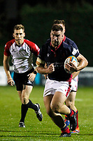 James Malcolm of London Scottish during the Championship Cup match between London Scottish Football Club and Yorkshire Carnegie at Richmond Athletic Ground, Richmond, United Kingdom on 4 October 2019. Photo by Carlton Myrie / PRiME Media Images