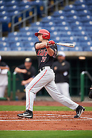 Ball State Cardinals Matt Eppers (35) at bat during a game against the Alabama State Hornets on February 18, 2017 at Spectrum Field in Clearwater, Florida.  Ball State defeated Alabama State 3-2.  (Mike Janes/Four Seam Images)
