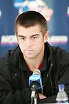 08 December 2005: Maryland's Jason Garey during a press conference at SAS Stadium in Cary, North Carolina in preparation for the NCAA Men's Division I College Cup semifinals to be played the following day.
