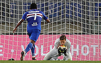 Calcio, Serie A: Roma vs Sampdoria. Roma, stadio Olimpico, 7 febbraio 2016.<br /> Roma&rsquo;s goalkeeper Wojciech Szczesny, right, grabs the ball past Sampdoria&rsquo;s Lucas Fernando during the Italian Serie A football match between Roma and Sampdoria at Rome's Olympic stadium, 7 January 2016.<br /> UPDATE IMAGES PRESS/Riccardo De Luca
