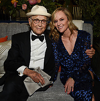 """ABC, DISNEY TV STUDIOS, FX, HULU, & NATIONAL GEOGRAPHIC 2019 EMMY AWARDS NOMINEE PARTY: Norman Lear and President, ABC Entertainment Karey Burke attend the """"ABC, Disney TV Studios, FX, Hulu & National Geographic 2019 Emmy Awards Nominee Party"""" at Otium on September 22, 2019 in Los Angeles, California. (Photo by PictureGroup/Walt Disney Television)"""